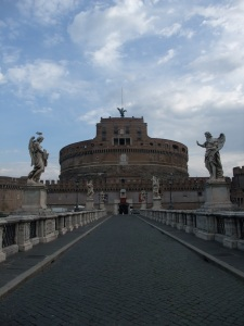 The view leading into the Castel from Ponte Sant'Angelo
