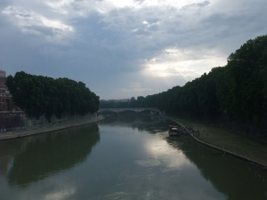A nice view of the Tiber from Ponte Sant'Angelo